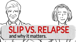 addicts relapse slip vs. relapse